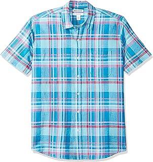 Men's Regular-Fit Short-Sleeve Linen Cotton Shirt