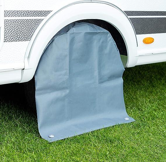 Cartrend 10261 Caravan Radschutzhülle Aus Wetterfestem Polyestergewebe 2 Ösen Mit Ring Bis 15 Zoll Auto