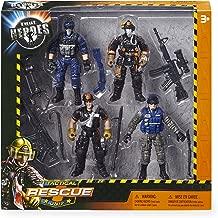 True Heroes Rescue Heroes Tactical Unit Firemen Policemen Figures