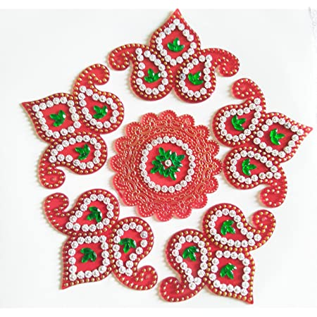 10 Inch Details about  /Diwali Special Rangoli Floor Table Sticker Acrylic