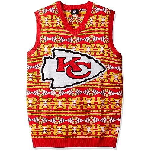 5d02d5e09 Klew Buffalo Bills Men s NFL Aztec Print Ugly Sweater Vest