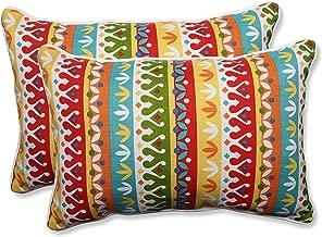 Pillow Perfect Outdoor/Indoor Cotrell Garden Over-Sized Rectangular Throw Pillow, Set of 2