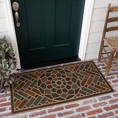 Mohawk Home Ornamental Grain Entryway Door Mat, 2'x4', Multi