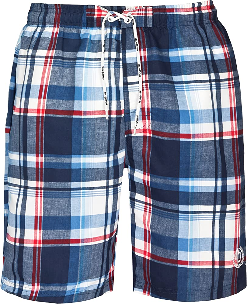 Bugatti® ,costume da bagno da uomo, a quadri,100% poliestere