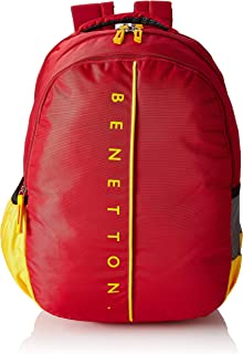 United Colors of Benetton 34 Ltrs Red School Backpack (0IP6SCHBPRY6I)