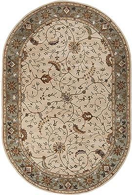 Surya Caesar CAE-1088 Classic Hand Tufted 100% Wool Dark Olive Green 8' x 11' Traditional Area Rug