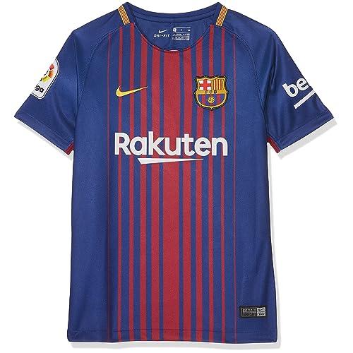 Nike FCB Camiseta 1ª Equipación Temporada 2017-2018, Línea FC Barcelona, talla S Niños