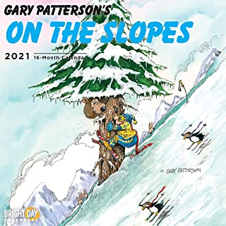 Bright Day Calendars 2021 Gary Patterson Wall Calendar by Bright Day, 12 x 12 Inch, Funny Comic Cartoon Sports (Skiing)