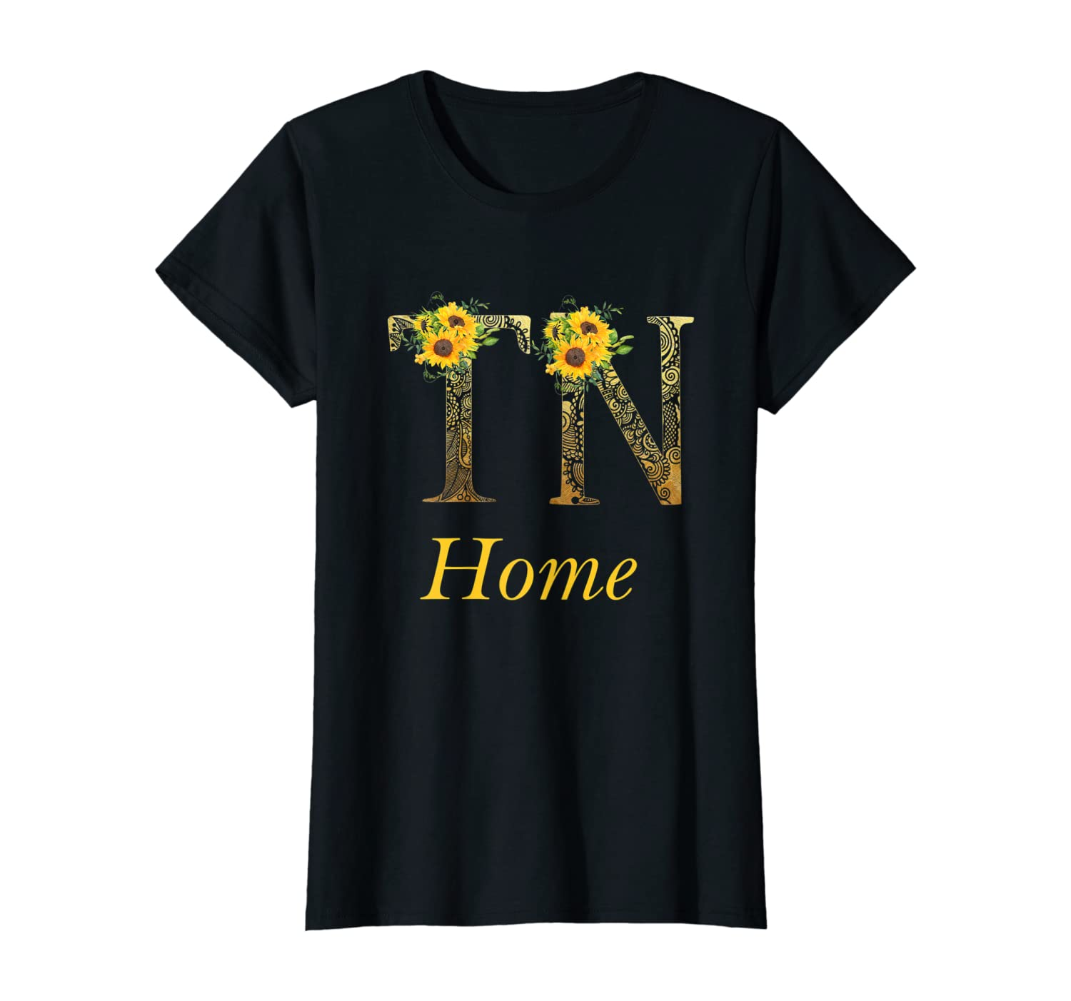 Womens Tennessee Home Roots Pride Sunflower Lover Proud State TN T-Shirt