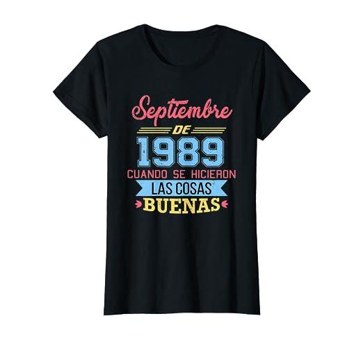 Amazon.com: Womens Camiseta 30 anos cumpleanos Septiembre ...