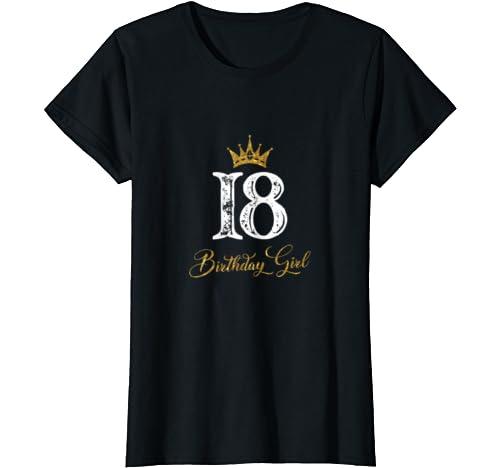 Womens 18th Birthday Girls 18 Years Old Birthday Gifts For Womens T Shirt