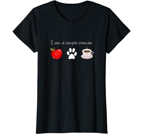 Womens Teacher Dog Lover Coffee Shirt Love Dogs & Teaching Gift T Shirt