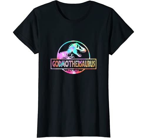 Womens Godmothersaurus Dinosaur Tshirt Rex Mother Day For Mom Gift T Shirt