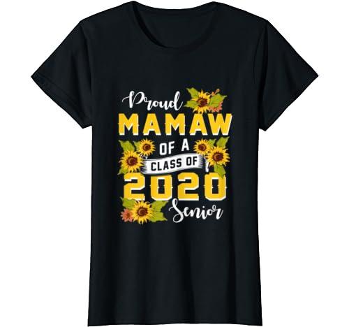 Womens Proud Mamaw Of A Class Of 2020 Senior Graduation T Shirt