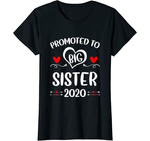 Promoted To Big Sister 2020 Vintage Arrow T Shirt