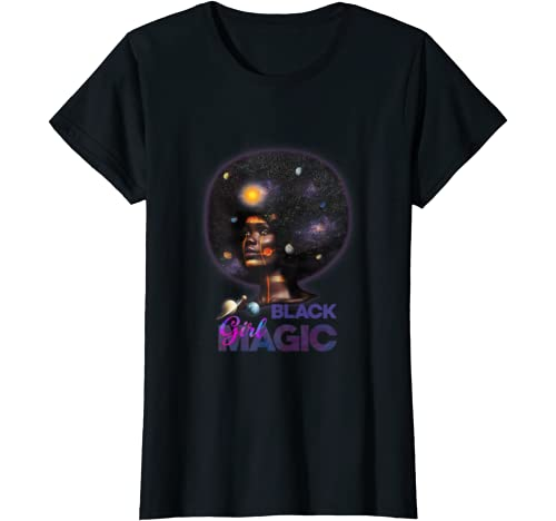 Afro Girl And Natural Hair Pride Black History Month T Shirt