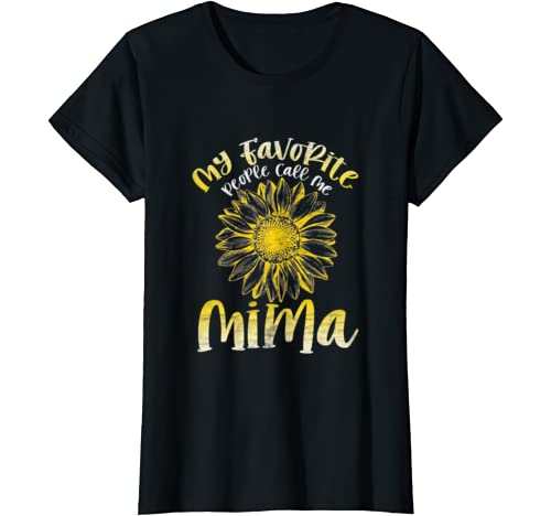 Womens My Favorite People Call Me Mima Tshirt For Woman Mommy T Shirt