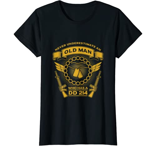 Never Underestimate An Old Man, Funny Father's Day T Shirt