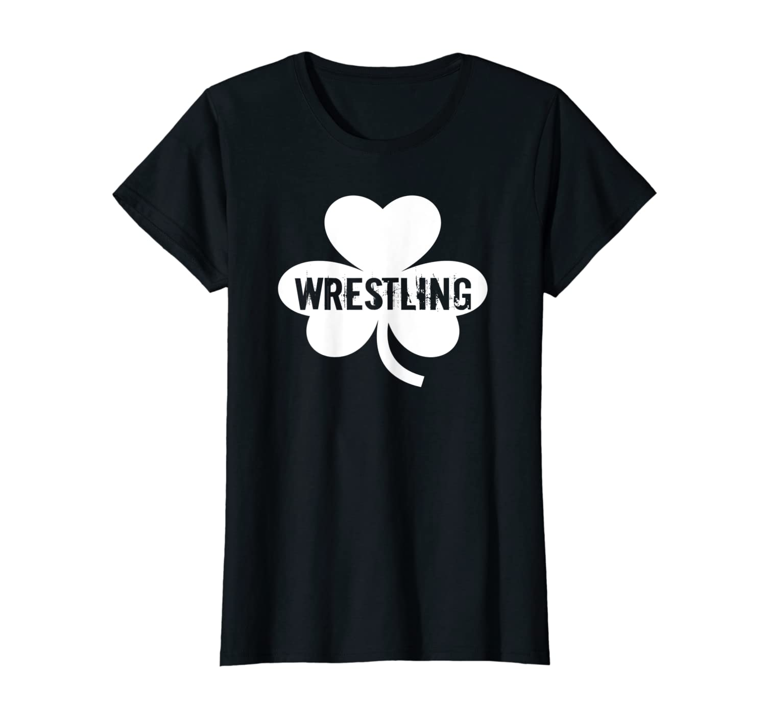 Lucky Wrestling Shamrock St Patrick's Day T-Shirt-Awarplus
