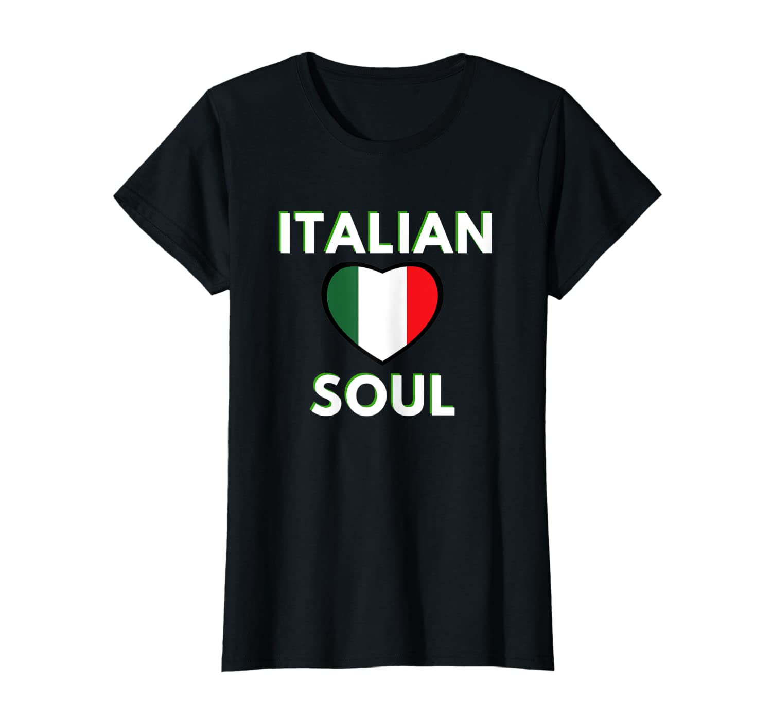 Italian Soul – Italian Culture Heart Flag T-Shirt