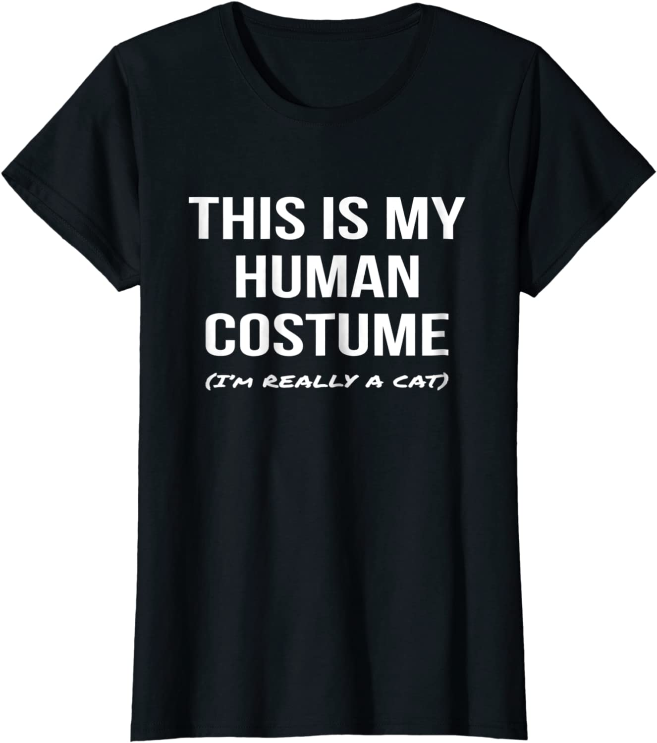 This Is My Human Costume Im Really a Cat Shirt Cosplay Tee