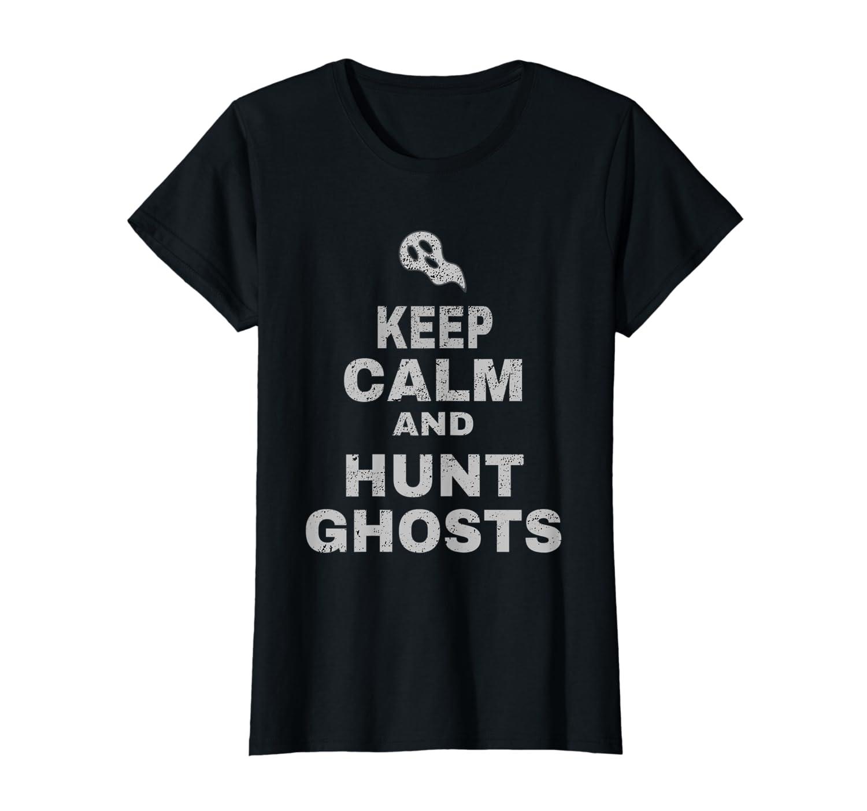 Ghost Hunting Equipment Shirt Keep Calm Mens Paranormal LongSleeve Tee