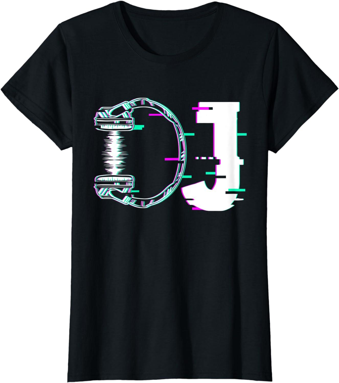 M/úsica DJ Disc Jockey Techno Auriculares de dise/ño M/úsico Camiseta