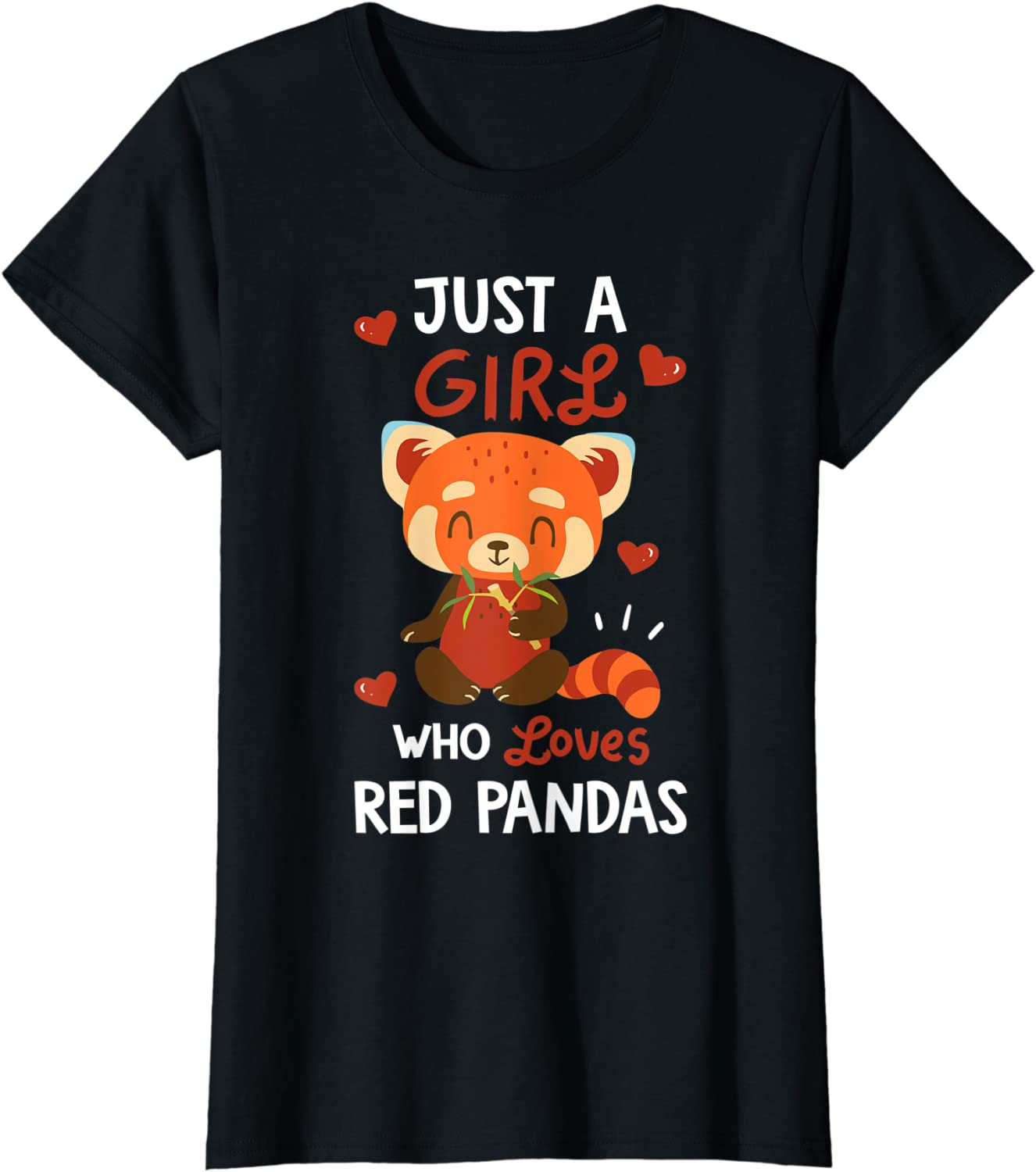 Just A Girl Who Loves Red Gift Panda Pandas Tshirt T-S Lover Manufacturer New product!! OFFicial shop