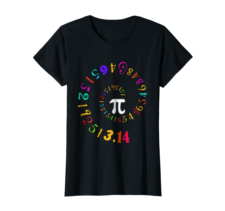 Pi Spiral Novelty Shirt for Pi Day Tshirts-Awarplus