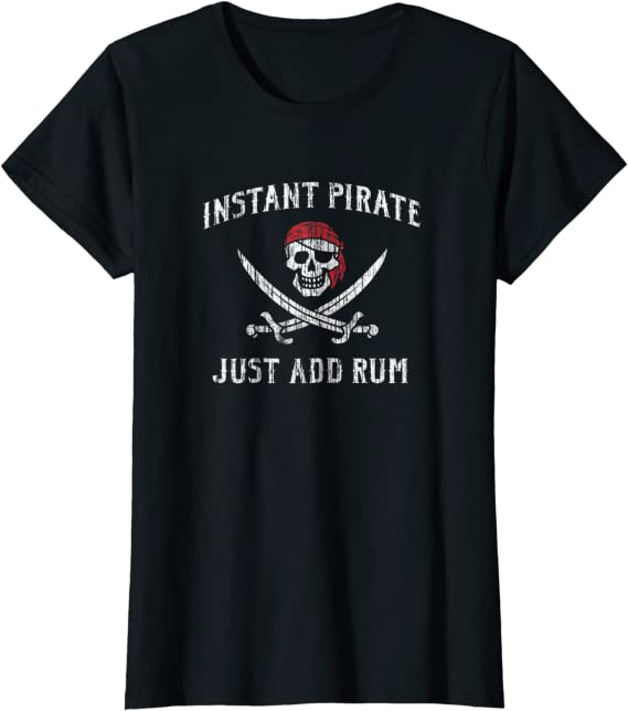 Instant Pirate Just Add Rum Funny Novelty T-Shirt Mens tee TShirt