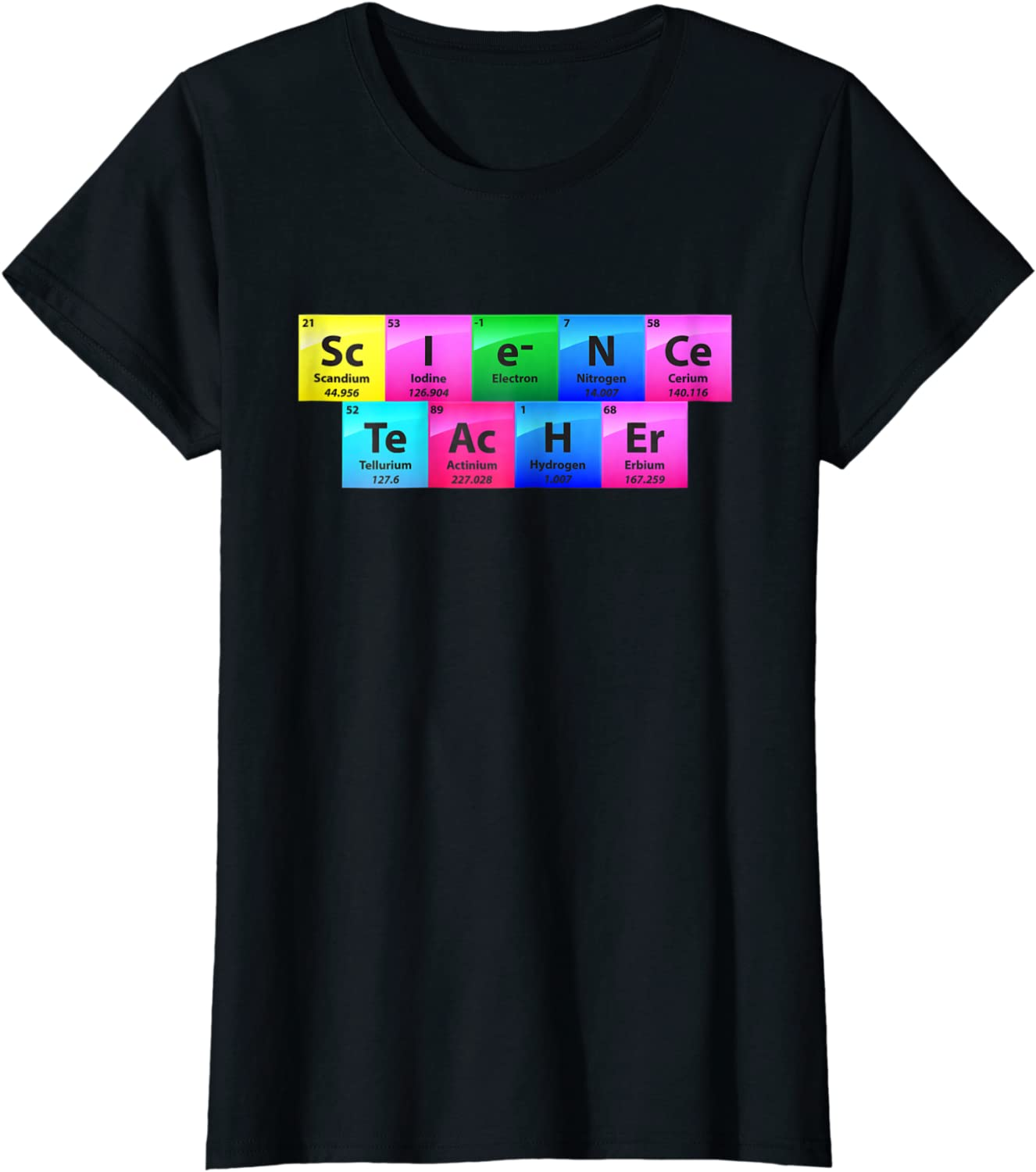 1Tee Kids Girls Science Flask Periodic Table T-Shirt