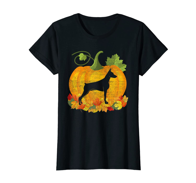 Cute Halloween Costume Doberman Dog Pumpkin T-Shirt Gift T-Shirt