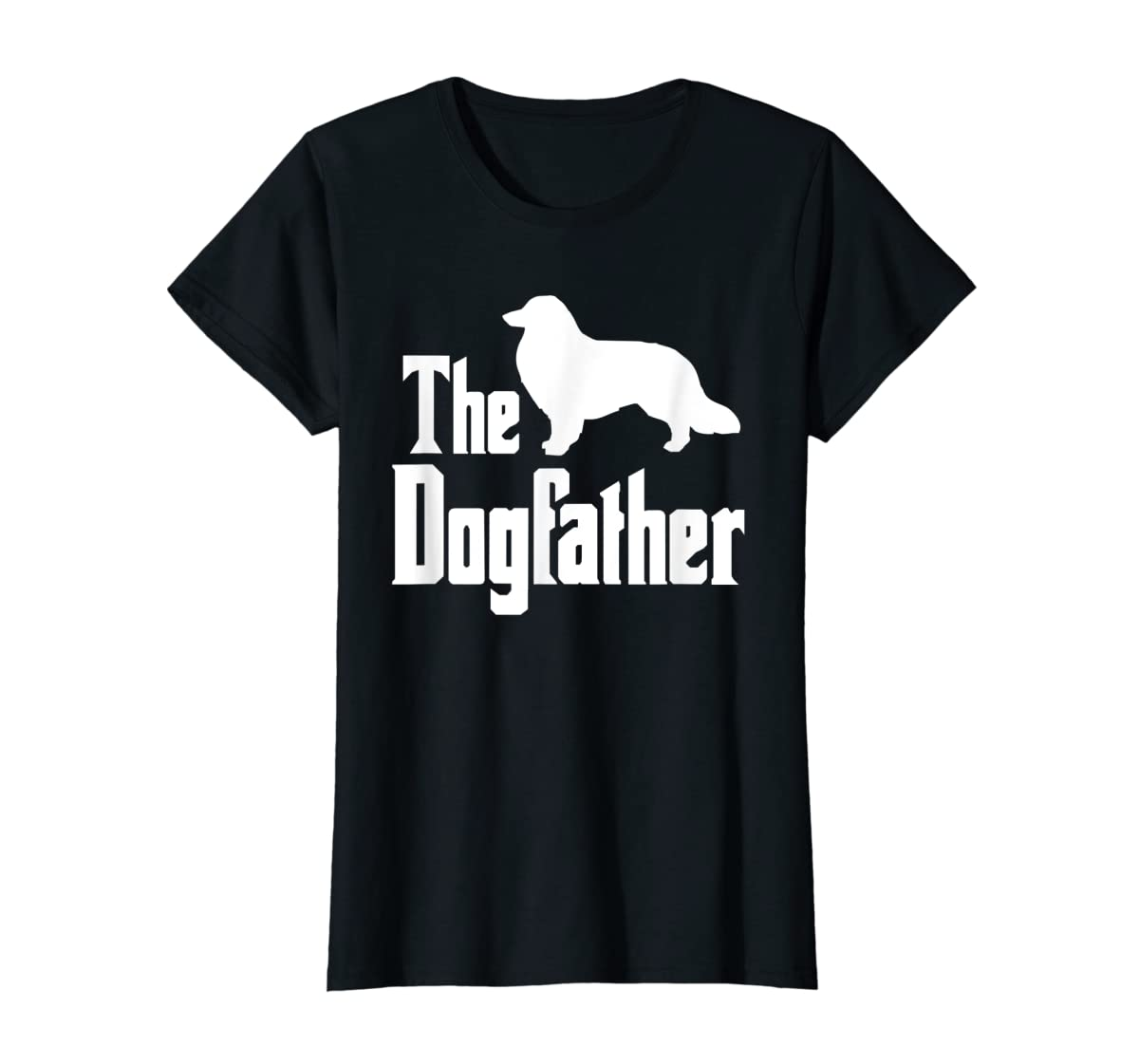 The Dogfather - funny Rough Collie T-Shirt, funny dog gift-Women's T-Shirt-Black