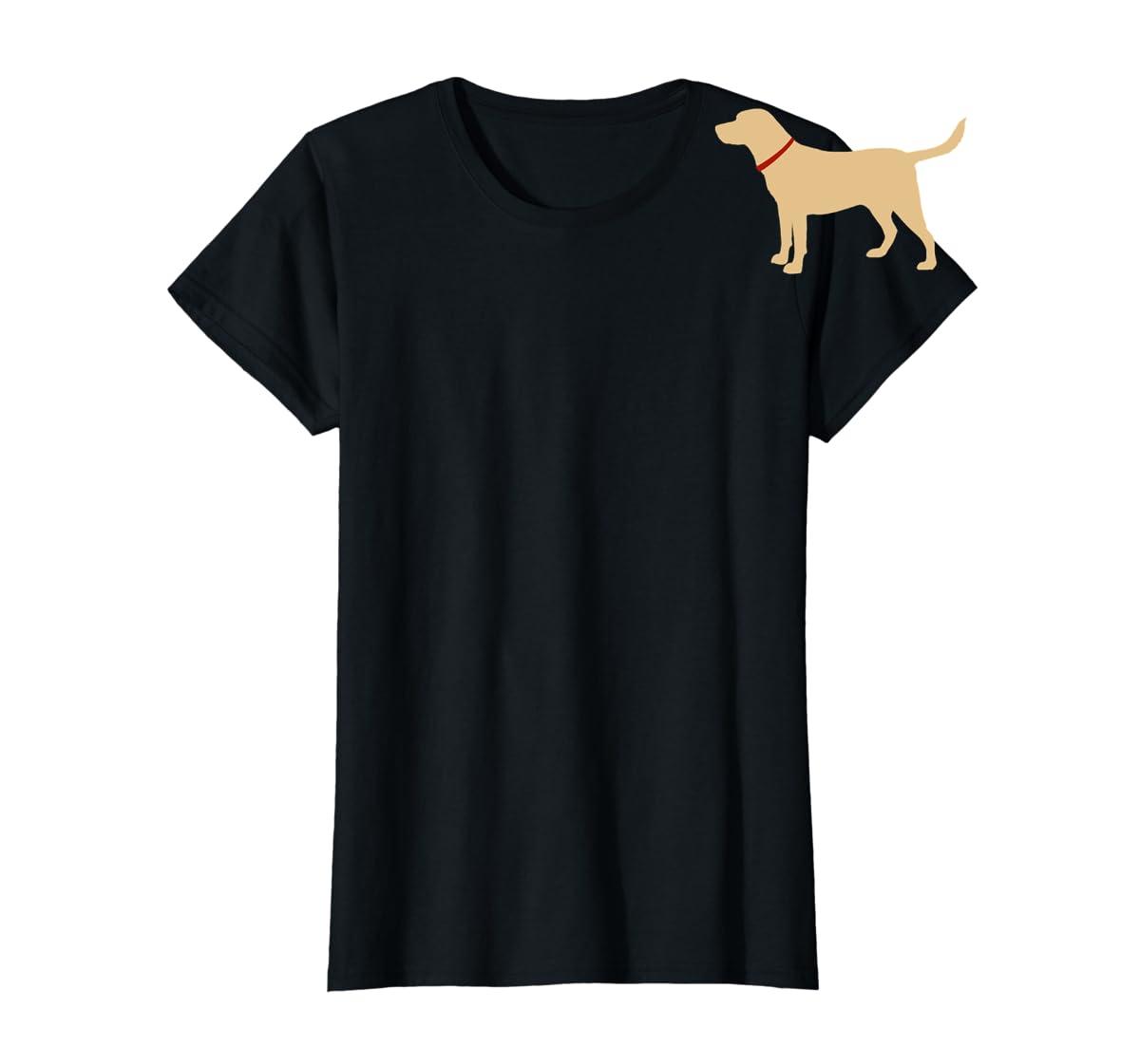 Labrador Retriever Emoji T-shirt Yellow Lab Lover Gift-Women's T-Shirt-Black