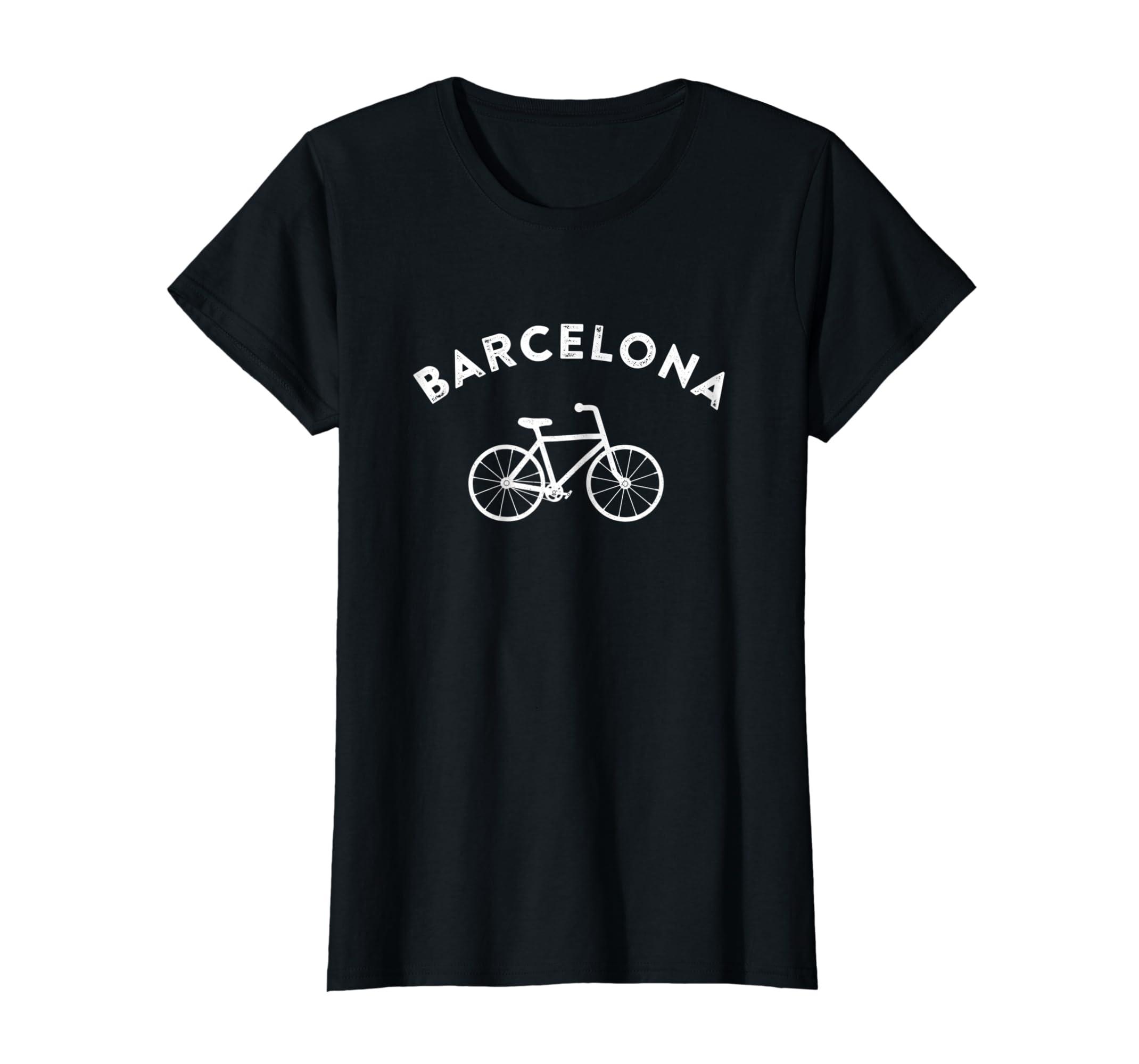 Amazon.com  Barcelona City Bike Tee Retro Cycling Shirt Spain T-Shirt   Clothing 0bc8b348c