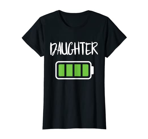 aba4a01320 Image Unavailable. Image not available for. Color: Mommy Daughter Battery T-Shirt  Full ...