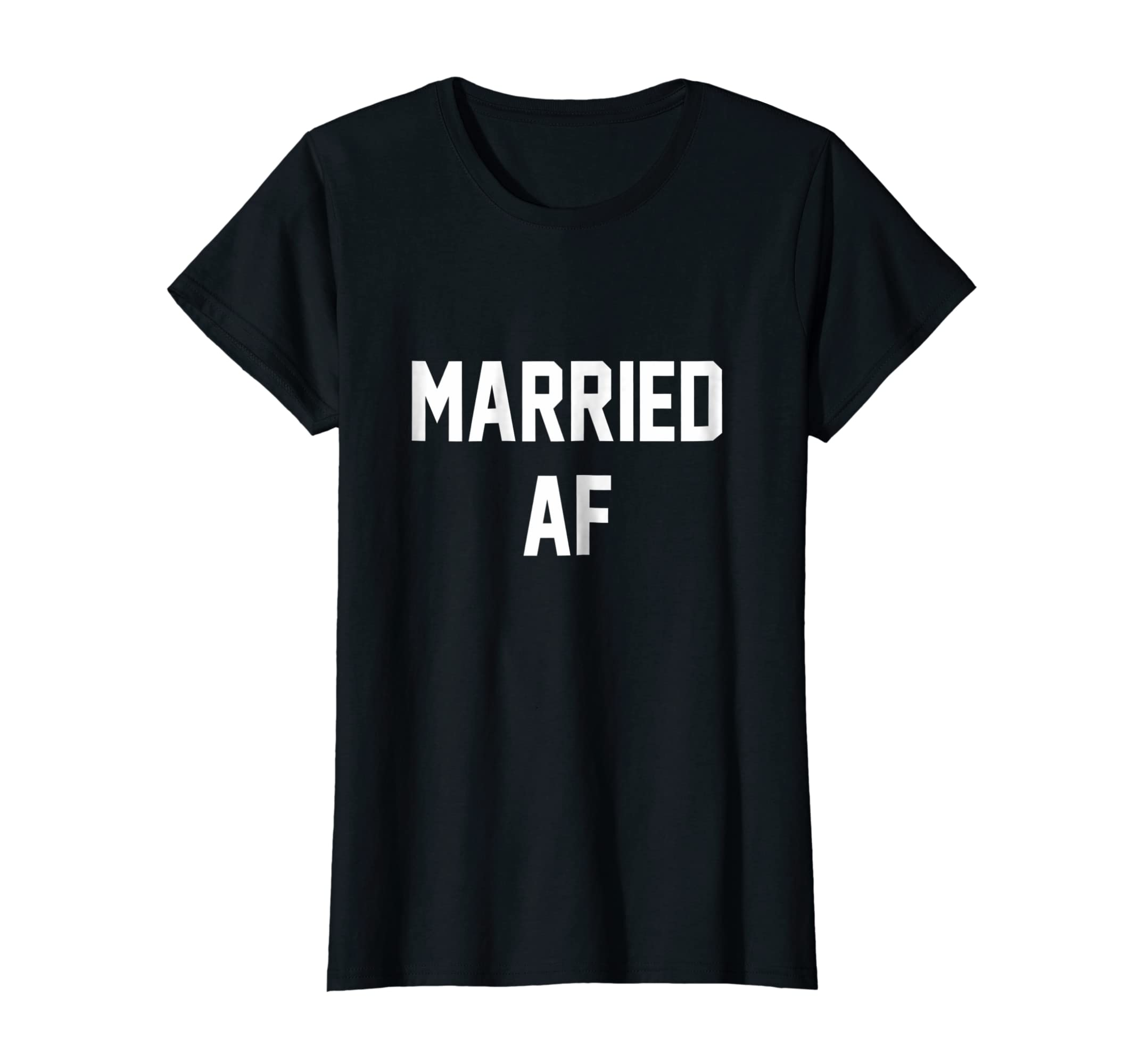 e99f37c79145 Amazon.com  Womens Married AF Shirt. Married AF. Just Married Shirt.   Clothing