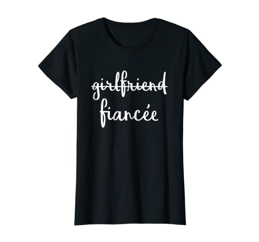 3e616cb7 Image Unavailable. Image not available for. Color: Womens Girlfriend Fiancee  T Shirt, Fiance Engagement ...