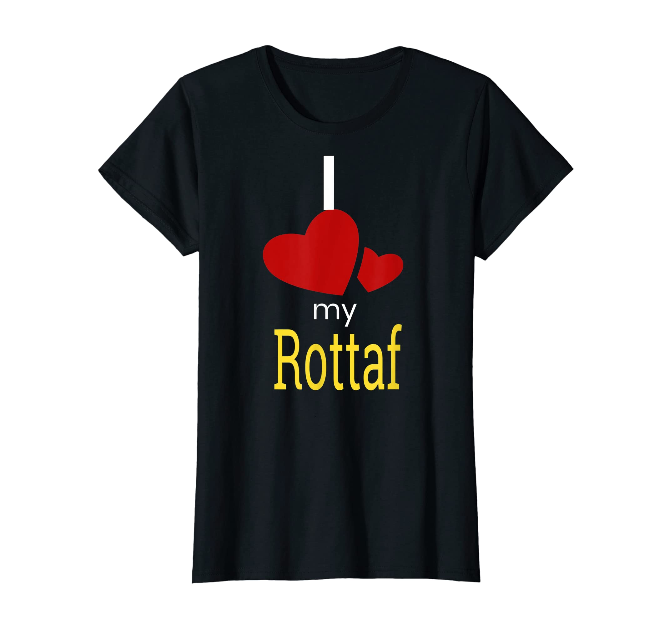 Rottaf Dog Shirt Love Rottweiler + Afghan Hound =  T-Shirt-Women's T-Shirt-Black