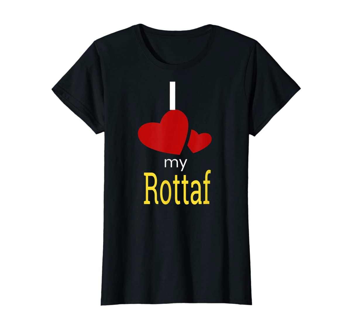 Rottaf Dog Shirt Love Rottweiler + Afghan Hound =  T-Shirt-Women's T-Shirt-Black