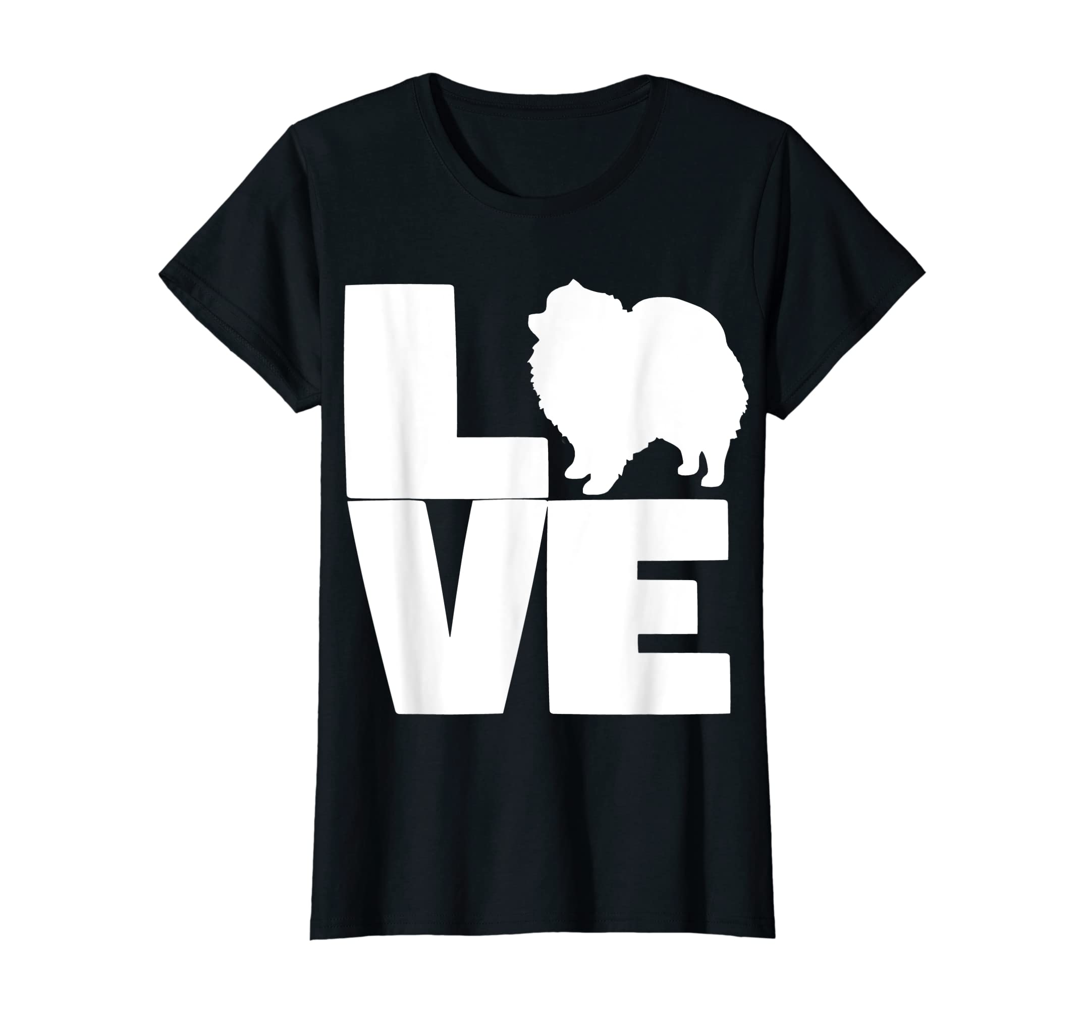 I Love Pomeranians Pom Mom or Dad Pet Lover T Shirt-Women's T-Shirt-Black