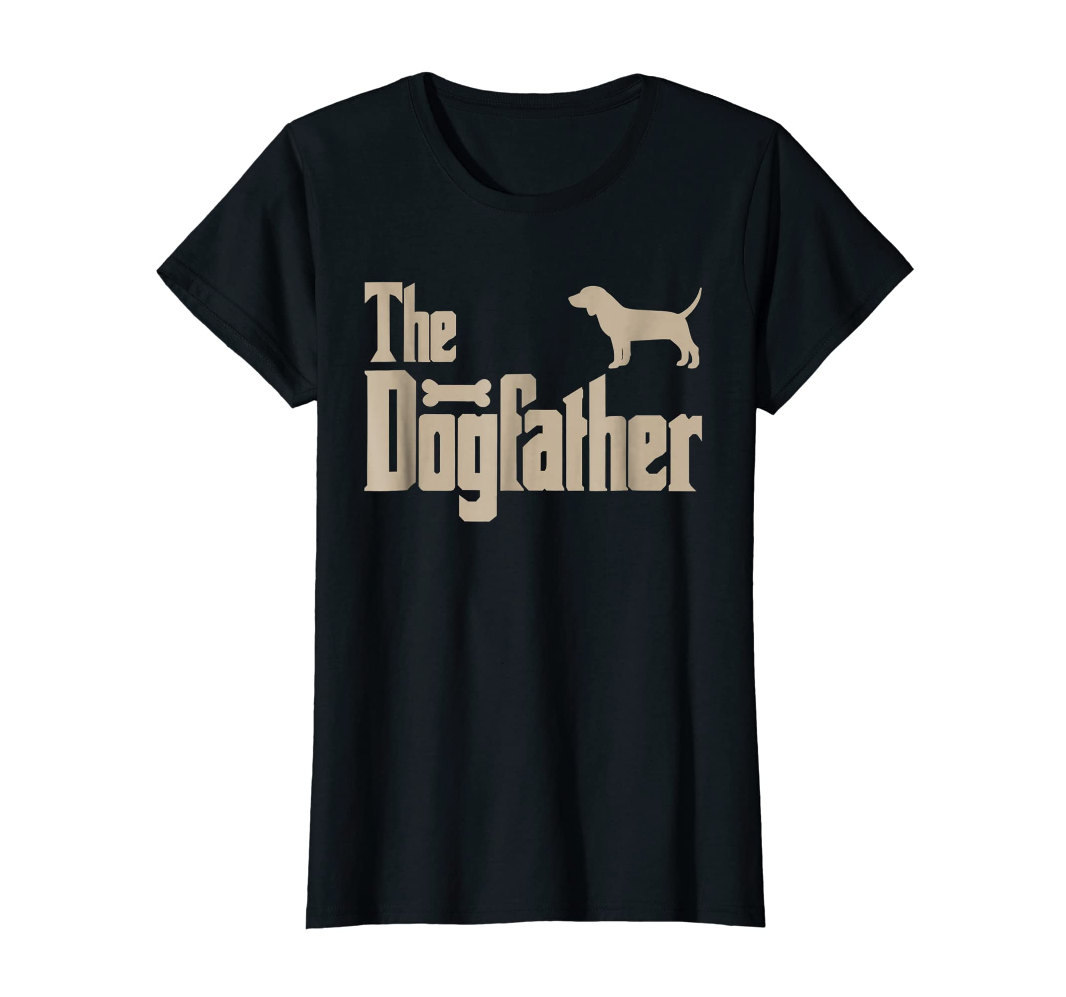 "Mens Beagle Dog Lovers Gifts ""The Dogfather"" Men Tee Shirts-Women's T-Shirt-Black"