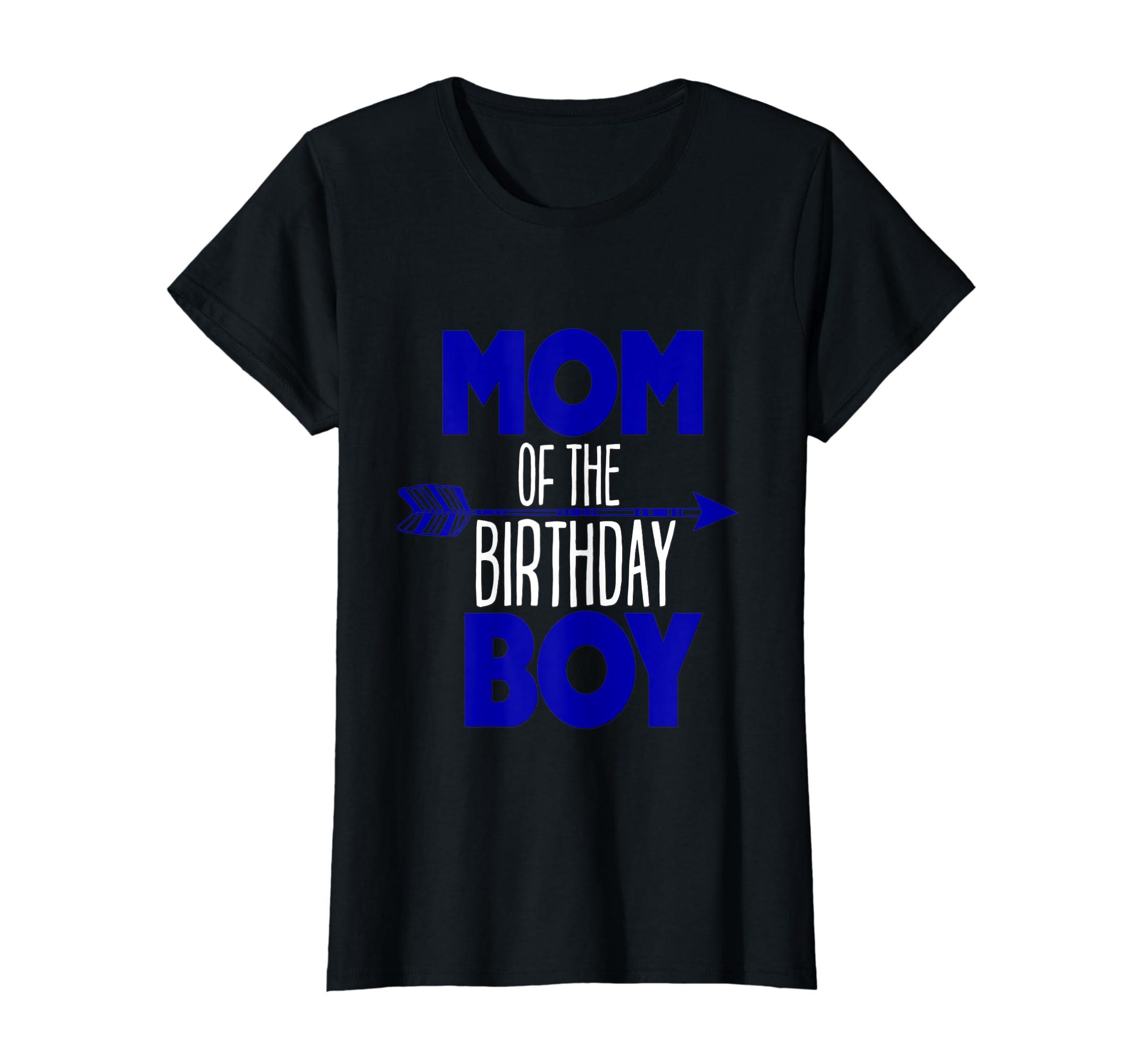 Amazon Mom Of Birthday Boy Shirt Matching Family Tribe Kids Son Clothing