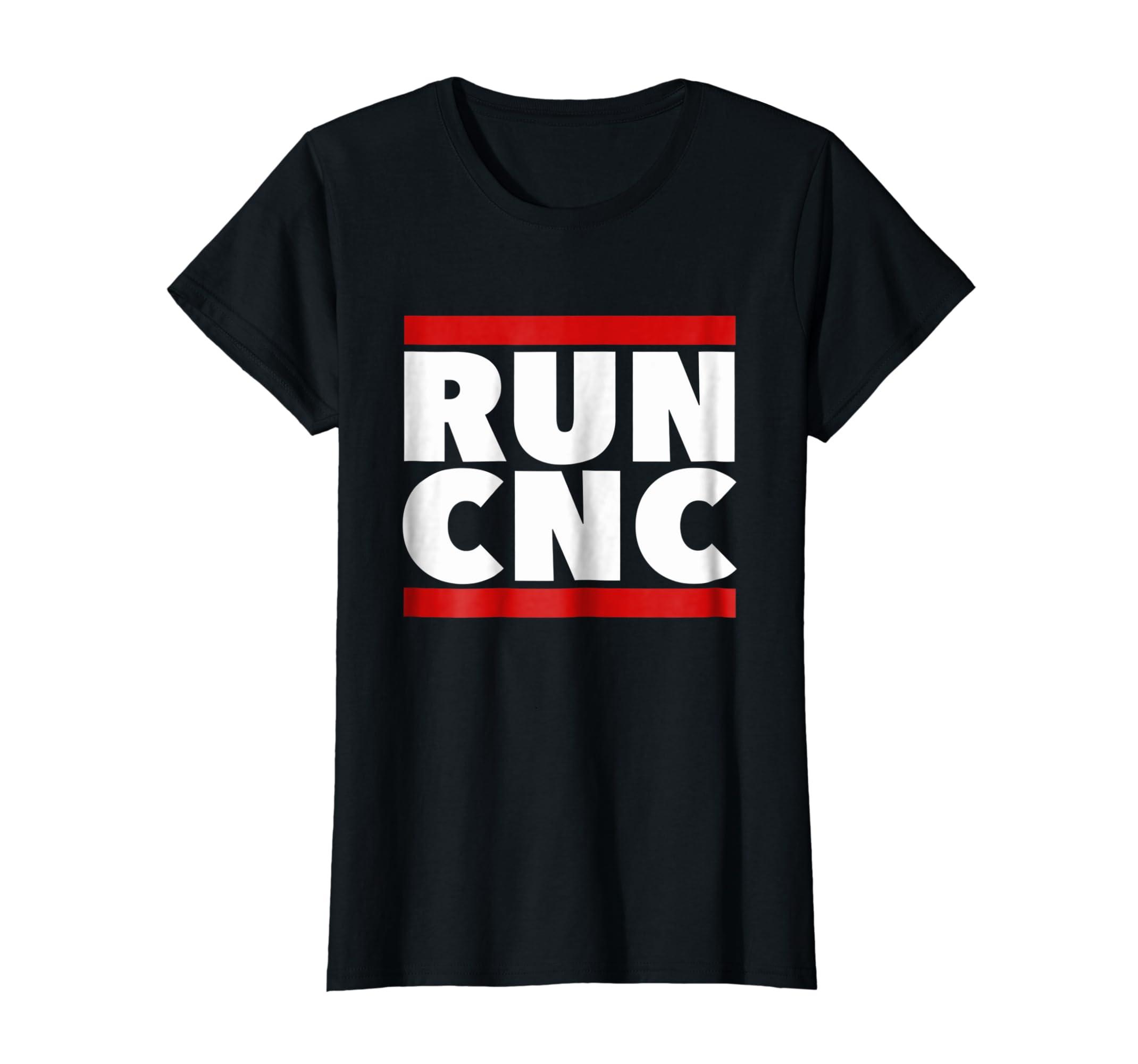 RUN CNC shirt. Funny machinist engineer G code tee-Teechatpro