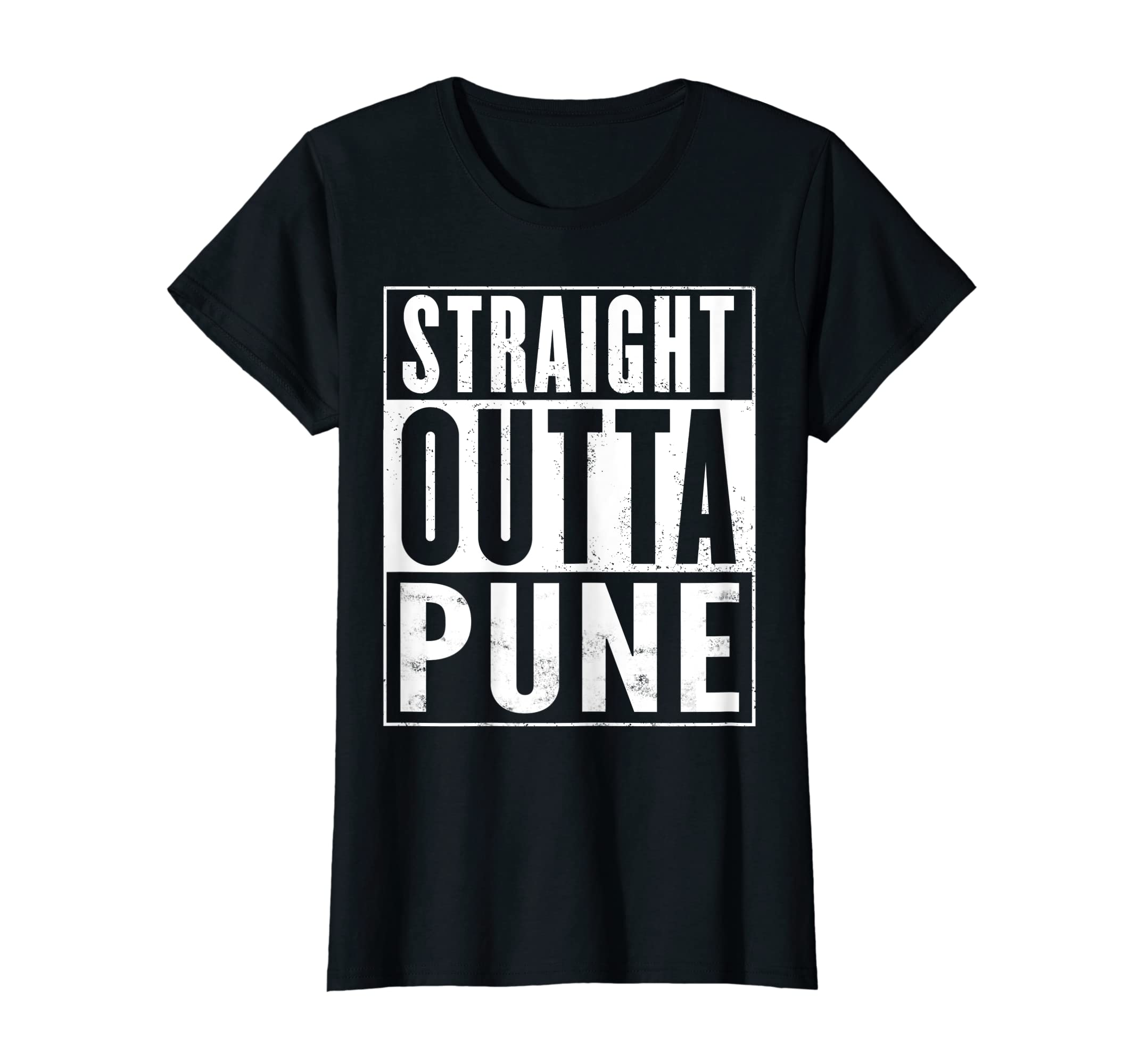 107073cd Amazon.com: Straight Outta Pune India Funny Gift T-Shirt: Clothing