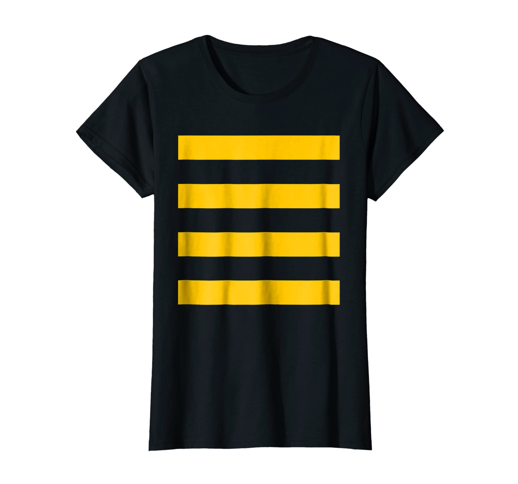 3e201fd137 Amazon.com: Bee Halloween DIY Costume Shirt - Yellow Stripes on Black:  Clothing