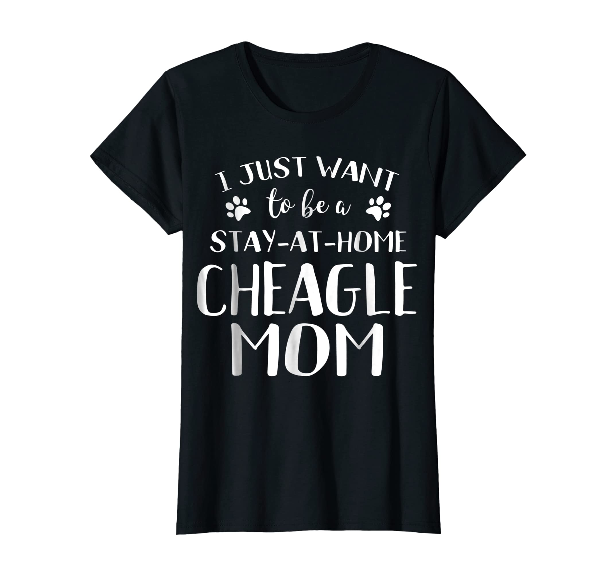 Cheagle Mom TShirt Cheagle Dog Breed Gift Pet Lover-Women's T-Shirt-Black