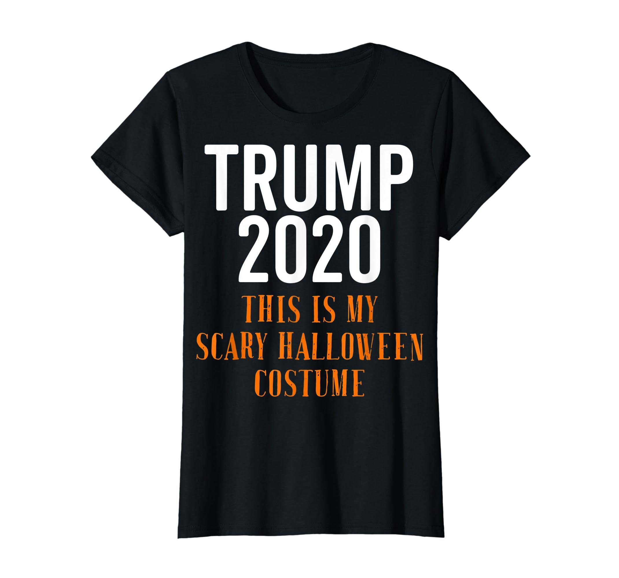Scary Halloween No More Trump Funny Costume Anti Political T-Shirt-Women's T-Shirt-Black