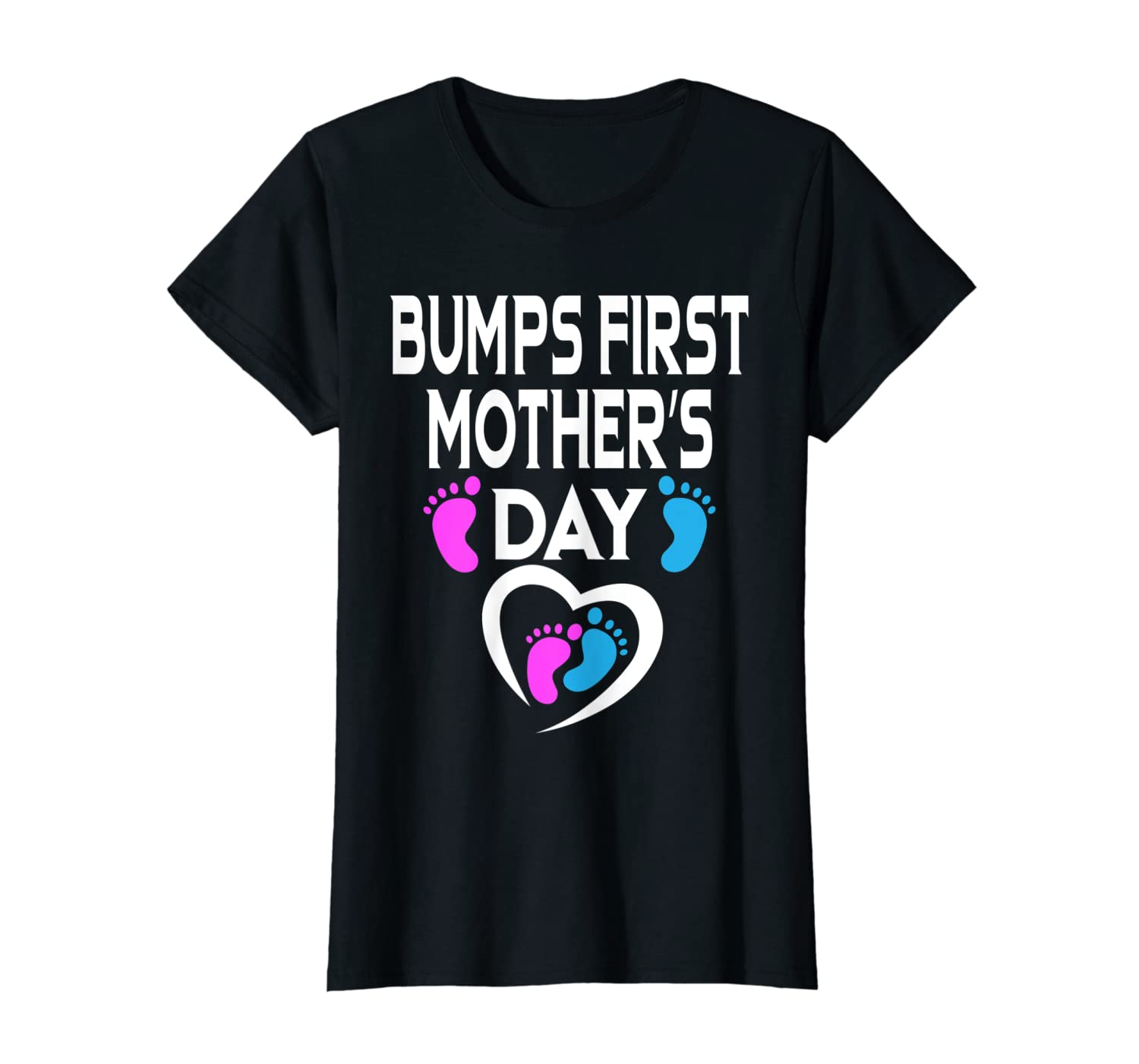 Womens Bumps First Mother S Day Shirt Pregnant Mom Expecting Baby