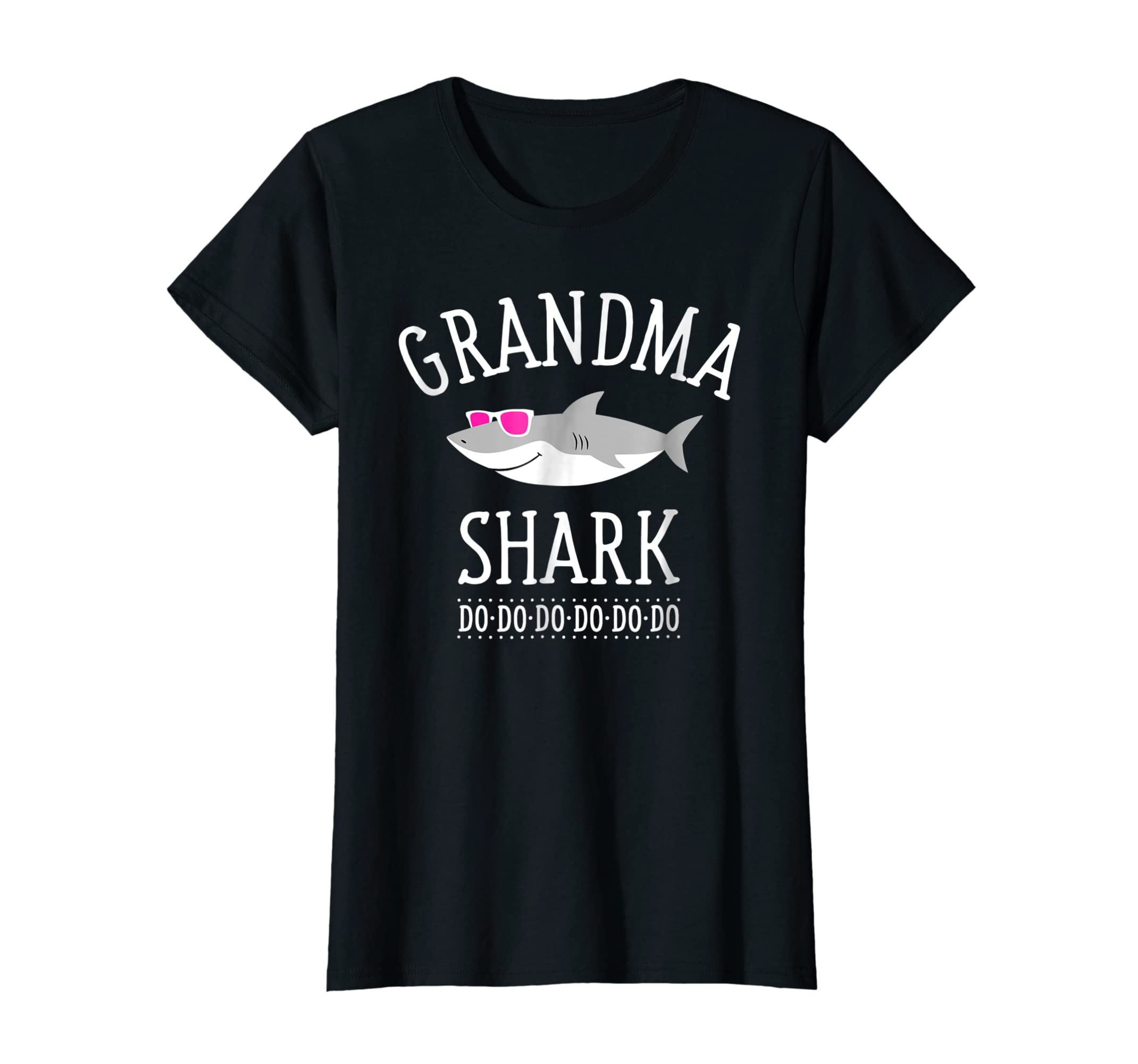 Grandma Shark T-Shirt-Women's T-Shirt-Black